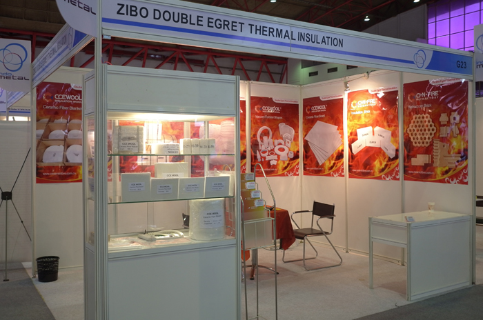 Double Egret was exhibited at Ceramitec in Munich Germany