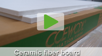 ceramic fiber board video