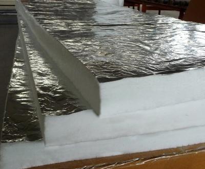 Ceramic fiber blanket with aluminum foil