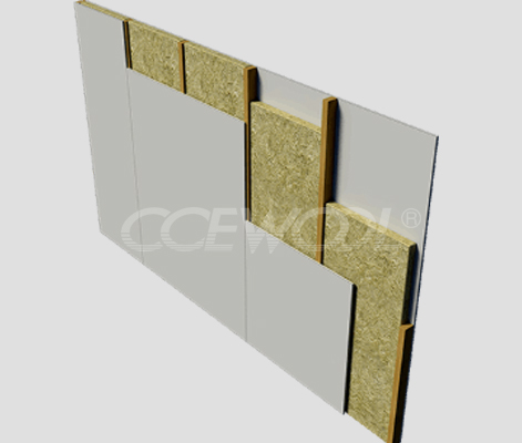 Curtain wall insulation rock wool board