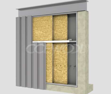 Sandwich panel rock wool board