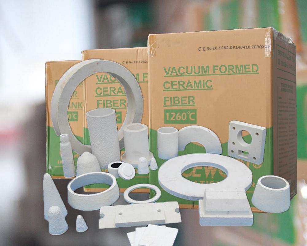 Vacuum formed ceramic fiber