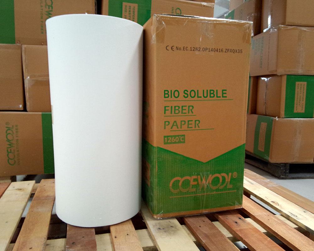 Soluble fiber paper