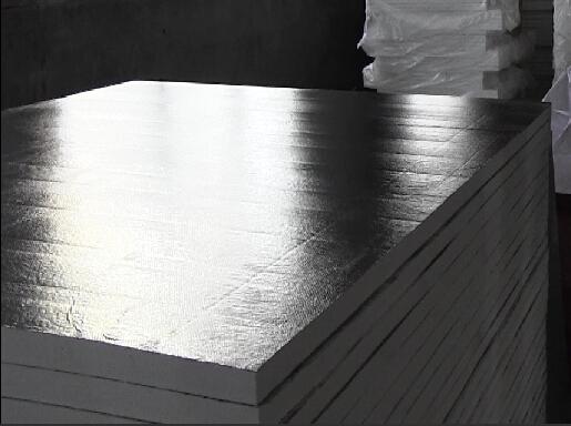 Ceramic fiber board with alumina foil